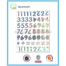 PVC/EVA glitter alphabet letter sticker for children