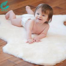 Luxus australischer Lammfell Schaffell Baby Matte Teppich