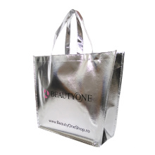 Metallic laminated recyclable pp non woven shopping tote bag