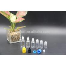 Botella de aceite transparente PET de 5ml / 10ml / 20ml / 25ml / 30ml con tapa roscada de presión