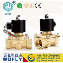 Bronze N / C Válvula solenóide de 2 vias 40 mm de água