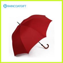 Parapluie de golf de grande taille d'ouverture manuelle avec la poignée en bois