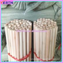 Natural wood broom handle/brush stick/mop pipe #22WN