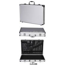 Media tamaños caja de herramienta de aluminio con sistema de almacén de herramientas dentro de