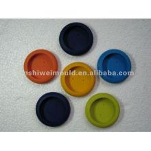 soucoupes moulées colorées de tasse de silicone