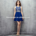 2017 bleu royal mini design 2 pcs ensemble robe de soirée backless heavey perles robe de demoiselle d'honneur traditionnelle