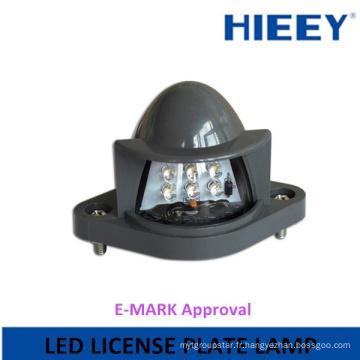 Nouvelle plaque d'immatriculation LED 10-30V lampe de plaque d'immatriculation LED pour camions et remorques avec homologation E-MARK