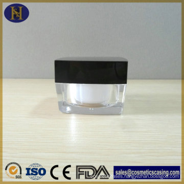 New Arrival Popular 50g Square Acrylic Cream Jar