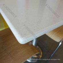 mesas de refeitório de superfície sólida de design moderno