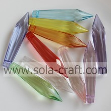 Acrylic Tear Drop and Diamond Icicle with Three Layer Christmas Ornaments