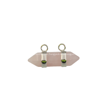 Розовый Кварц Шестиугольник Bicone Подвеска для Ювелирной Серьги как Подарок На День Рождения