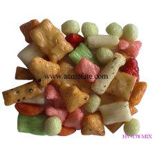 Gesunder Reis Cracker für Chirismas Eve