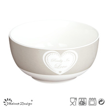 13cm New Bone China Bowl with Simple Heart Decal Design