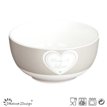 13cm Bowl with Decal in Simple Heart Design