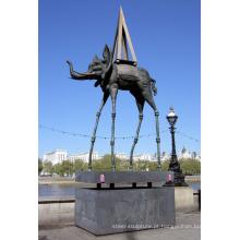 Venda quente estátua elefante dali para vendas por atacado