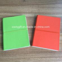 Qualidade PU couro A5 cor papel notebooks