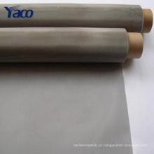 Rede de arame de aço inoxidável de 25 mícrons, malha de arame de aço inoxidável de 500 mícrons 0.5mm
