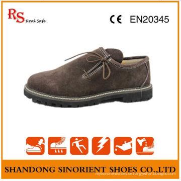China Cow Suede Leder Gummi Soft Sole Herren Sicherheitsschuhe Deutschland RS008