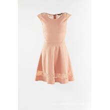Вязание с кружевом цельное платье