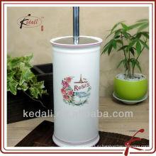 Белая глазурь цветная наклейка керамическая щетка для туалета и набор держателей