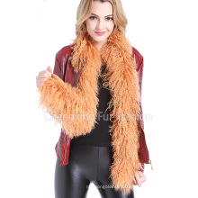 Fur Long Real Mongolian Lamb Fur Scarf