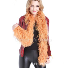 Fur Long Real Mongolian Lamb Fur Scarf