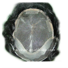 Nice knotting lace men's hairpieces