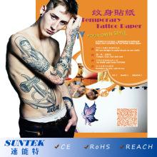 Temporäre Tattoos mit Wasser Transfer Tattoo-Papier (CE, RoHS, REACH)
