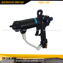 Electrostatic portable manual paint spray gun