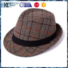 Factory Popular long lasting cheap homburg straw cap for 2016
