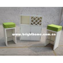 Rattan Wicker Wine Cabinet Outdoor Furniture