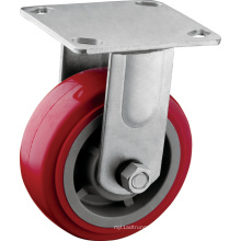 Heavy Duty Red 5 Inch Fixed Wheels