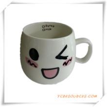 Taza de cerámica ambiental la cara la sonrisa