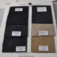 High margin stocking khaki color cashmere cotton blend fabric