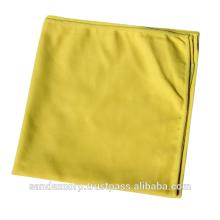 Yellow Microfiber Suede Towel