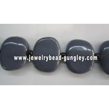 Abalorios de cerámica hecha a mano hermosa 25x30mm