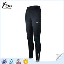 Frauen Schwarze Polyester Spandex Leggings Running Wear