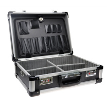 Caja de herramienta de aluminio de aleación de aluminio multiusos (con bloqueo codificado)
