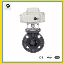 DN25-DN500 UPVC electric butterfly valve for water treatment