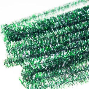 DIY Glitter Pipe Cleaners tinsel chenille stems