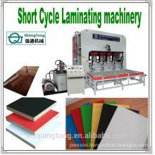 SCL/Short Cycle Laminating machine/Furniture laminates shot cycle press/press machine