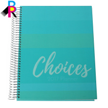 Venta caliente semana cuaderno / diario diario impresión con diseño personalizado