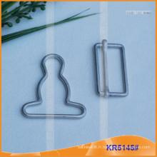 Boucle de calotte en métal pour accessoires de vêtement KR5145