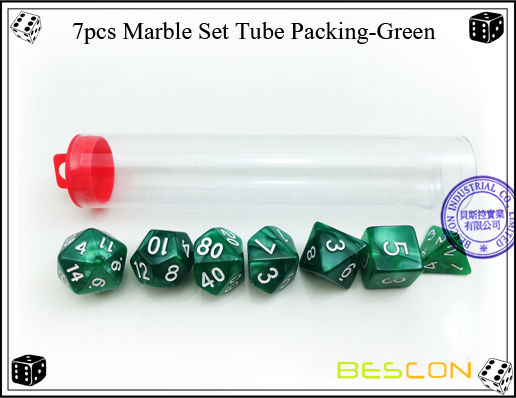 7pcs Marble Set Tube Packing-Green-2