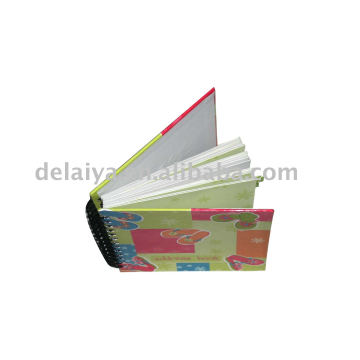 Hard cover spiral notebook