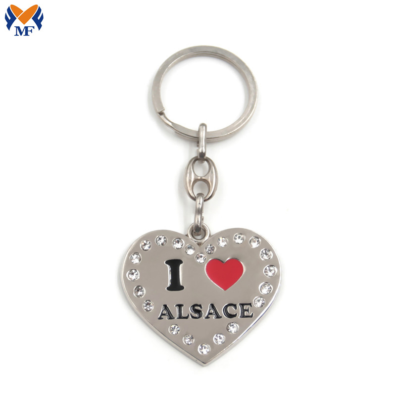 Heart Keyring With Crystal