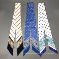 Lenço de seda retangular floral do lenço do estilo do laço projeta o lenço de seda