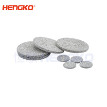 HENGKO porous metal sintered stainless steel powder/mesh or bronze filter disc used for environment protection