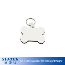 Factory Price 3mm Blank Sublimation MDF Keychain with Double Sides Printable Coating Promotion Gift