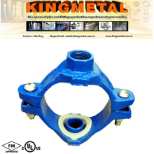 FM UL Approved Grooved Fittings Threaded Mechanical Cross Pipe Fittings.